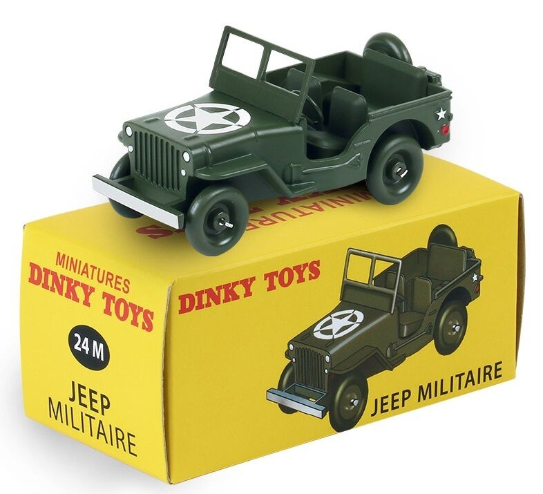 DINKY TOYS ATLAS CITROEN JEEP WILLYS US ARMY 1 43 REF 24 M BOX NOEL 2015