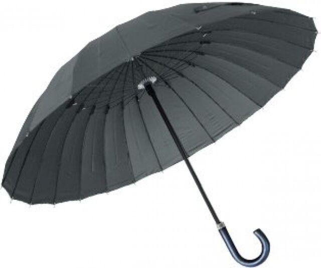 New! High-Strength Glass Fiber 24 Bones Umbrella DuPont Water-Repellent Gray