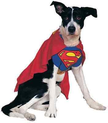 Superman Man of Steel Superhero Fancy Dress Up Halloween Pet Dog Cat Costume