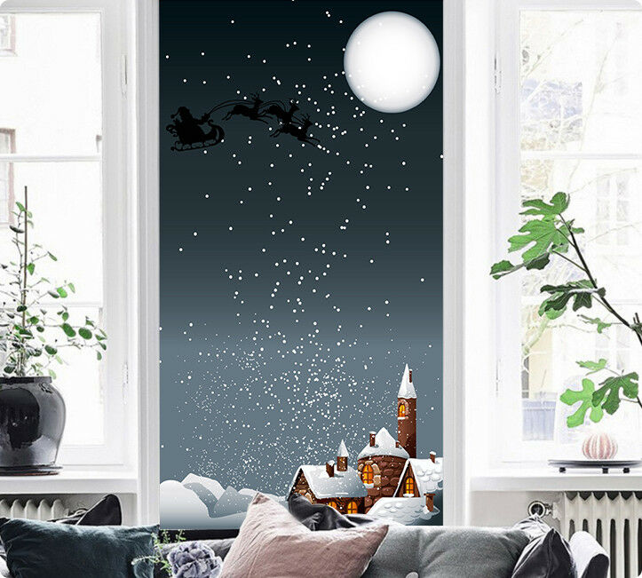 3D Christmas Night 04 Wallpaper Murals Paper Wall Print Wallpaper Mural UK