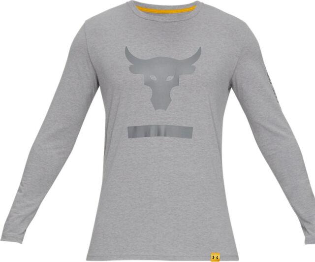 NWT Under Armour Men/'s Project Rock Black T-Shirt Long Sleeve Size Large L