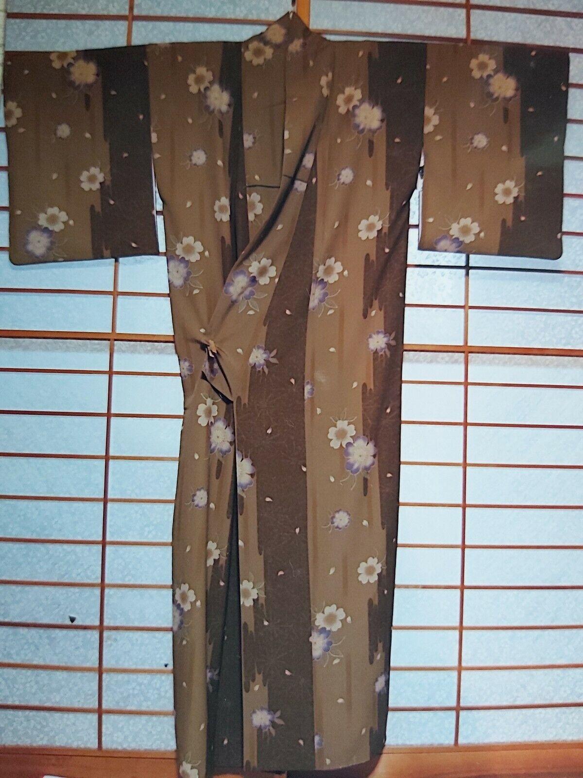Beautiful authentic Japanese kimono with flower design