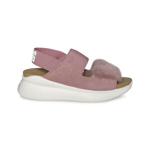598a2b45ae0 Details about UGG SILVERLAKE PINK DAWN LEATHER SNEAKER SHEEPSKIN WOMEN'S  SANDALS SIZE US 7 NEW