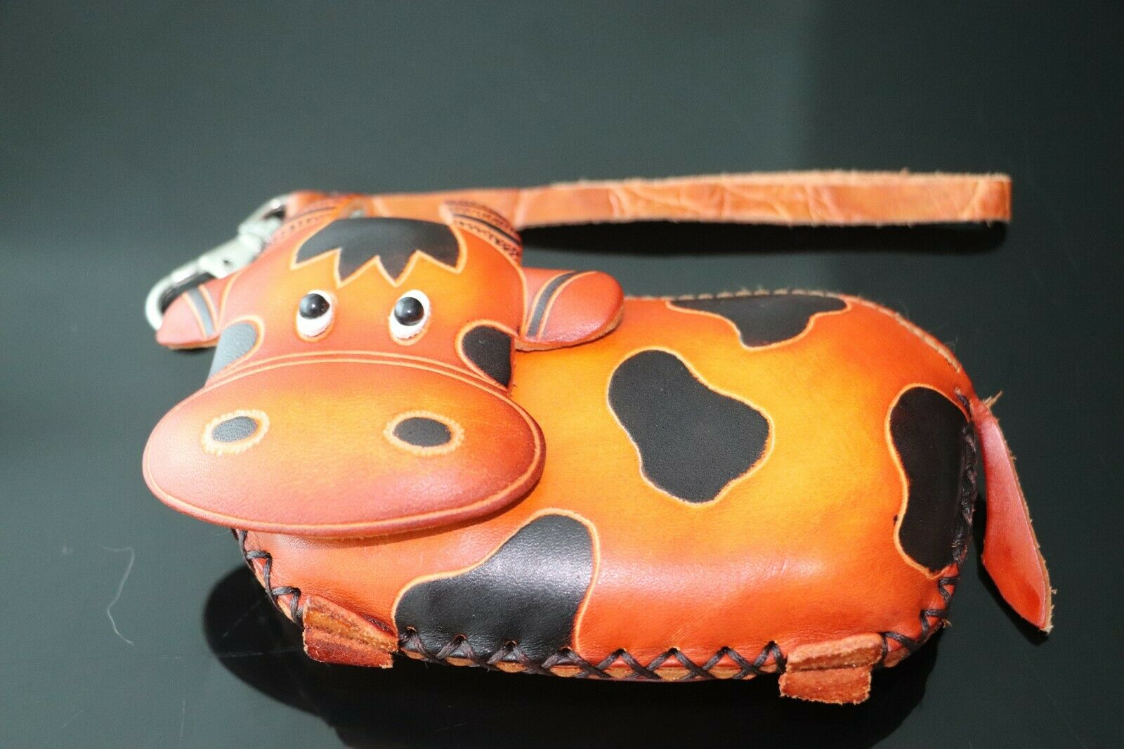 Leather Child/Adult Purse Real Leather in the Shape of a Cow Brand New
