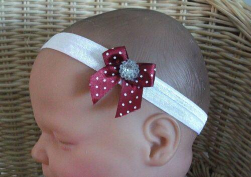 Bébé fille enfant Dainty repéré Bow Bling Gem bandeau plusieurs couleurs disponibles