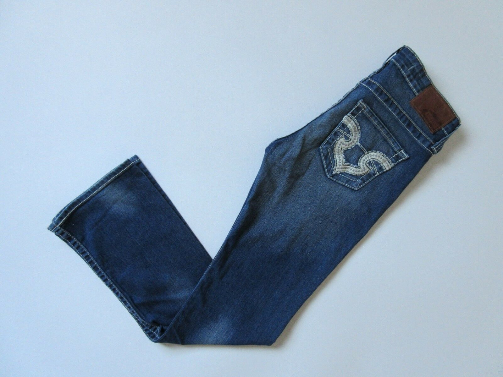 Big Star Remy Boot Low Rise Distressed Stretch Bootcut Jeans 27 x 32