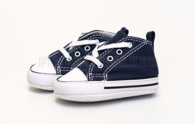 d9b51d1b5553cb Converse First Star Baby Born Crib 88865 Navy White Canvas Authentic ...