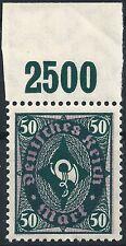Posthorn MiNr. 209P Y vom Plattenoberrand von Feld 5 postfrisch