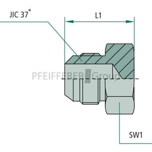 GRANIT JIC Adapter EV JIC EV 3//4 M-JIC