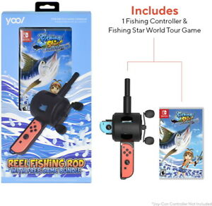 Fishing-Star-World-Tour-w-YOOL-Reel-Fishing-Rod-Nintendo-Switch-180-Fish-NEW