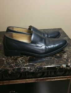 COLE HAAN Apron-Toe Black Sz 13 M Men Loafers