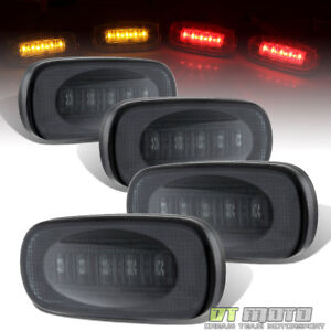Smoked-2003-2009-DODGE-RAM-3500-DUALLY-BED-LED-SIDE-FENDER-MARKER-LIGHTS-4PC-SET