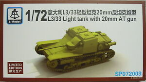 L3-33-Tankette-With-0-25-32in-Pak-1-72-S-Model-Special-Limited-New