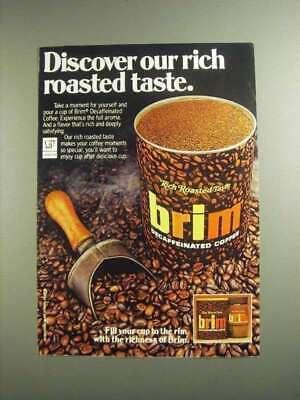 1984 Brim Decaffeinated Coffee Ad - Rich Roasted Taste | eBay