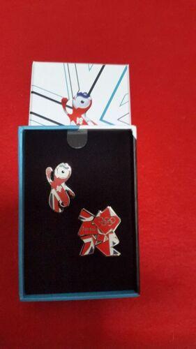 £2.99 Wenlock /& Union Jack London Olympics 2012-2 Pin Box Set