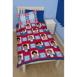 One-Direction-Craze-Rotierend-Einzelbett-Bettdecke-Bettbezug-Set