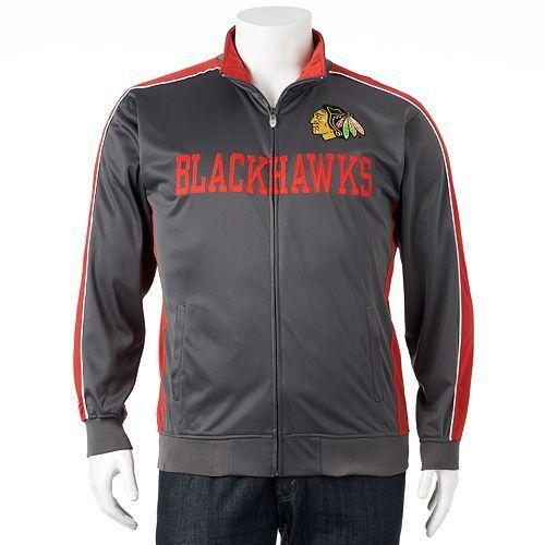 Majestic NHL Chicago Blackhawks Mens Track Jacket