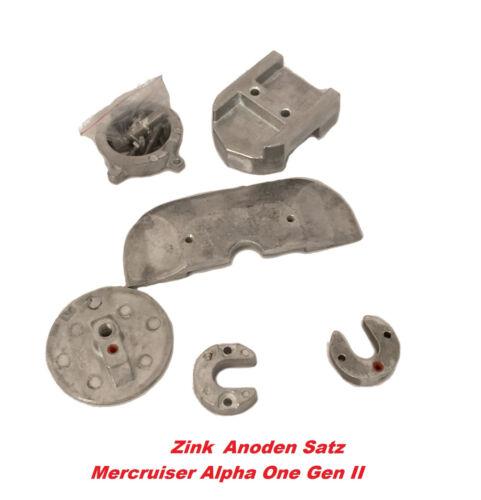 Anodensatz Zink Mercruiser Alpha One Gen.II Anoden Anode Z-Antrieb Salzwasser