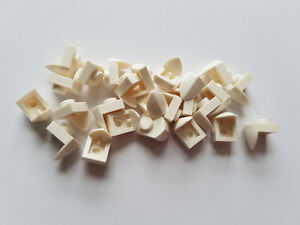 50 New LEGO WHITE 1x1 Plate with Vertical Tooth 15070
