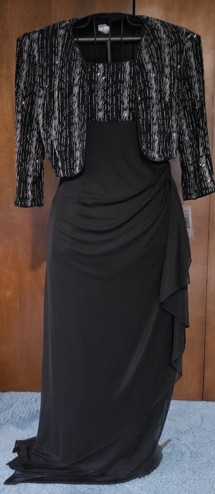 MK OFFE**retail Wedding Prom Dress SZ 12 2pc Jacket Dress ALEX EVENINGS
