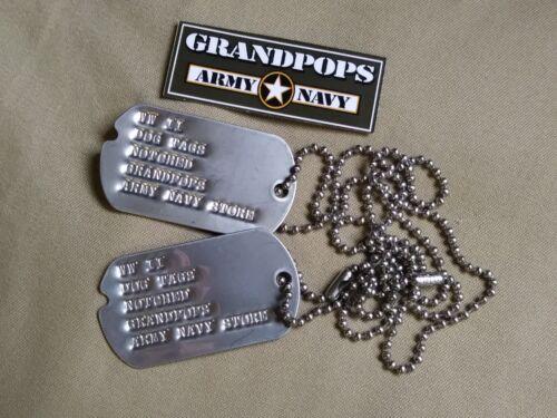 WW2 CUSTOMIZED U.S MILITARY DOG TAGS