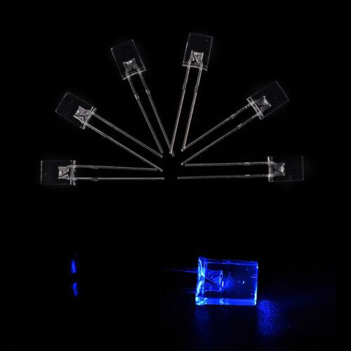 100pcs Rectangular Square LED Emitting Diodes Light LEDs Bulbs Water Clear S/&K