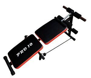 Banco de musculacion/entrenamiento plegable y ajustable marca Pro10