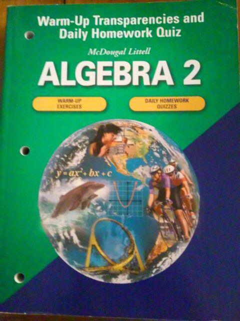 Homework help mcdougal littell algebra 2