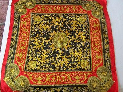 VERSACE XXL ORIGINAL SCHAL TUCH SCARF Carré платок 87 x 87 UVP 328 € edel SEIDE