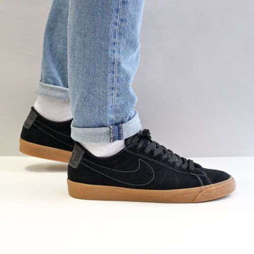c9f7124a3a36 Nike SB Zoom Blazer Low Men s Skateboarding Shoes Black Size 12 864347 for  sale online