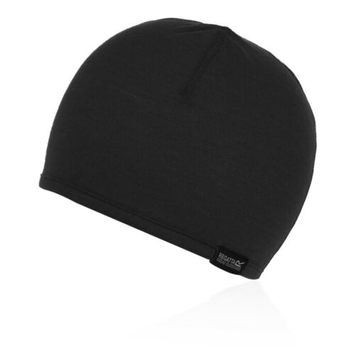 Regatta Unisex Merino Hat Cap Black Sports Outdoors Warm Breathable Lightweight