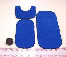 7023# Miniatur Badgarnitur 3-tlg. blau - Puppenhaus - Puppenstube M 1zu12