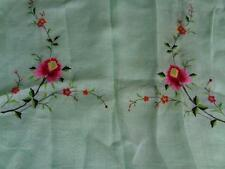 "Vintage Linen Embroidered Tablecloth & 12 Placemats / Napkins 102"" x 66"""