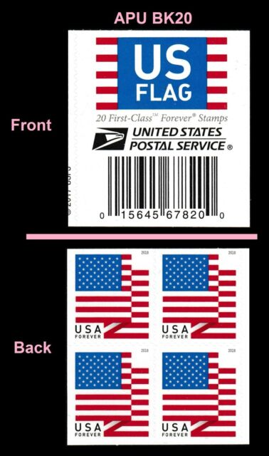 Stamp Collecting Book Of 20 Usps Us Flag 2018 Forever Stamps