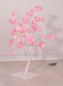 32-LED-Rosenblutenbaum-Arbre-Lumineux-de-Noel-Fleur-Rose-en