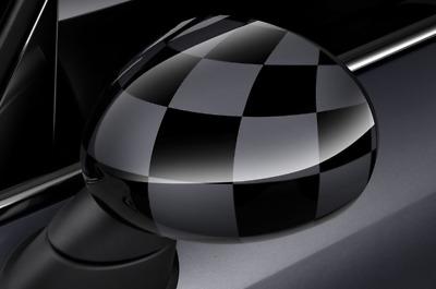 Schätz ®  Spiegelkappen für Mini R55 Clubman Checkered flag