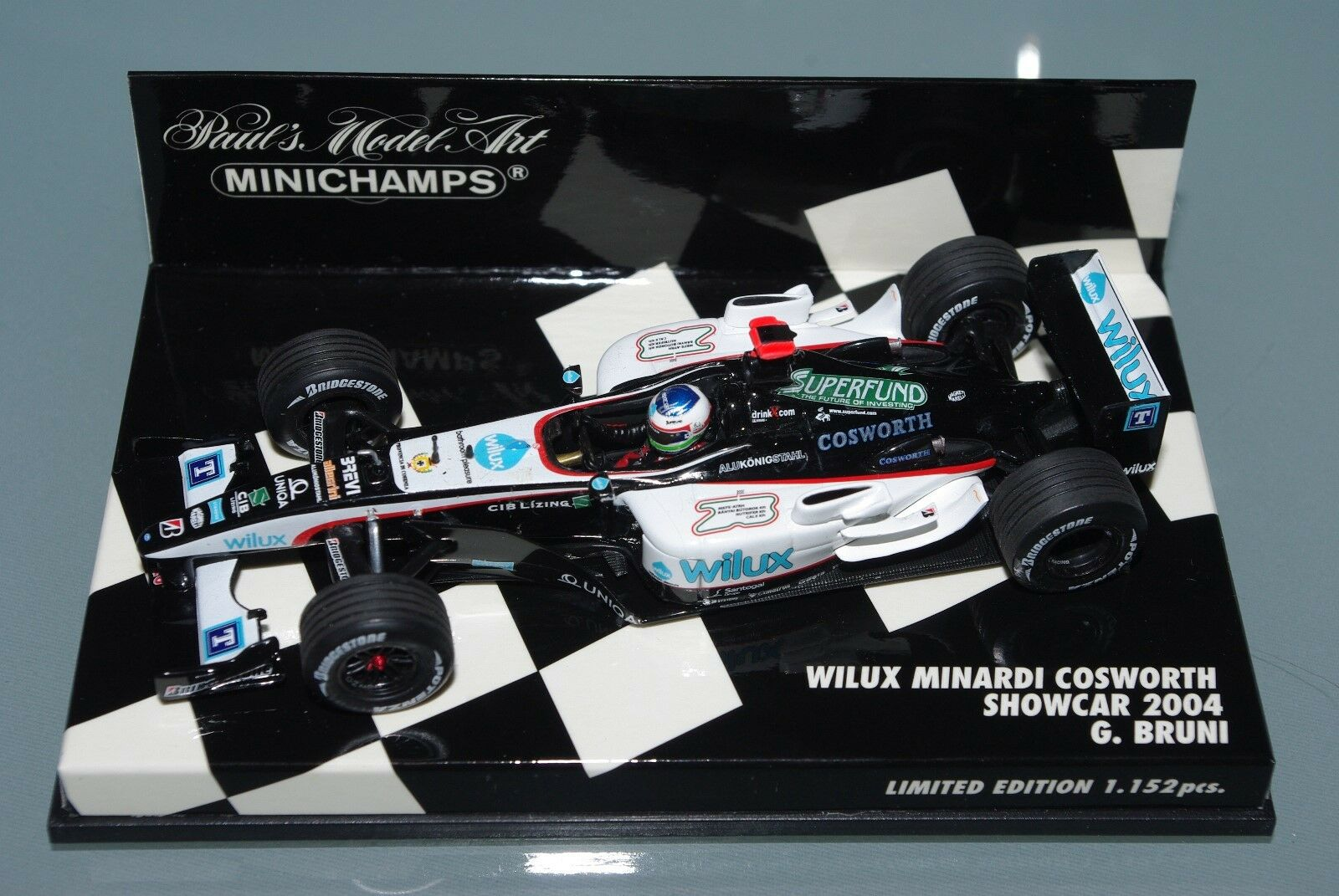 Minichamps F1 1 43 wilux Minardi Cosworth Showcar 2004-G. Bruni