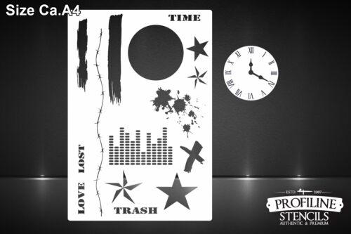 Polka Trash Airbrush Effekt Schablone Effects Background Grunge Stencil