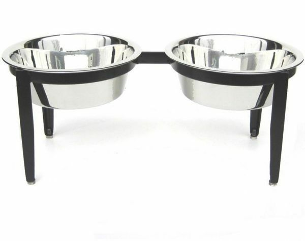 Vision Indoor Outdoor Double Diners Dog Food Bowl Feeder