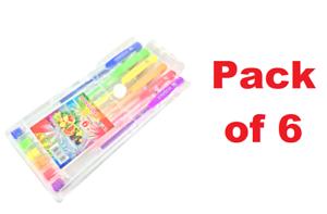 6 Colors Gel Art Pens Art Neon Metallic Ballpoint Art /& Craft Drawing Pens