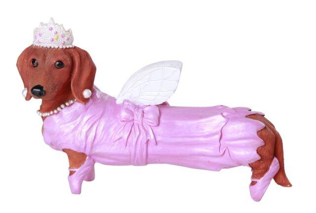 Fairy Ballerina Dancer Red Doxy Dachshund Dog Figurine Collection