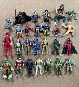 VINTAGE Lot of 26 Different Action Figures Batman TMNT Power Rangers Star Wars