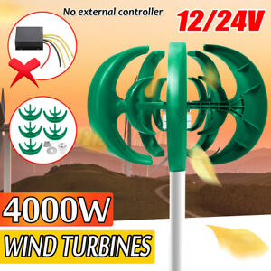 4000W 12V//24V 5 Lames Générateur d/'éoliennes Énergie Contrôleur Axe vertical