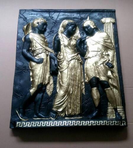 RELIEF GREEK SKULPTUR WANDRELIEF GROß FLACHRELIEF GRIECHISCHE BILD STUCK GIPS