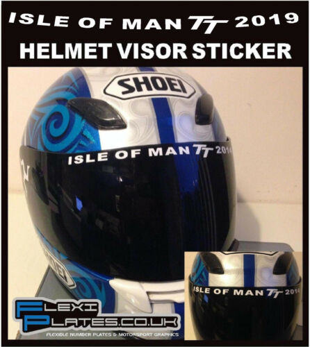 ISLE OF MAN TT Course Circuit Track VISOR STICKER Motorcycle Road Racing Decals
