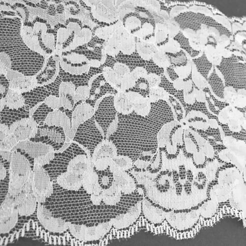 5 Yards 15cm Stretch Lace Ribbon Trim Fabric for Bridal Wedding Veils Dress DIY