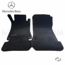 Mercedes W209 Convertible Front & Rear Carpeted Floor Mat Set Genuine 66294119