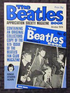 1976 THE BEATLES Appreciation Society Magazine #6 VF 8.0