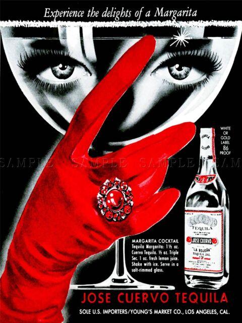ADVERTISING DRINK ALCOHOL WOMAN EYES GLOVE USA ART POSTER PRINT LV700