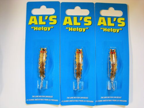 show original title Details about  /3 Pack Gold HELGY-Al/'s Goldfish Bait Co H100-NEW-Made in the USA